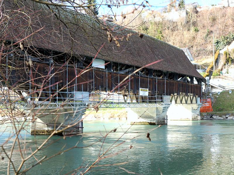 Hängegerüst Neubrücke Bern 2016